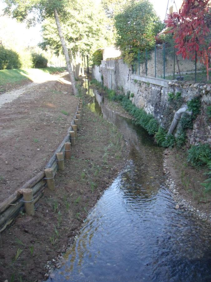 Banquettes - renaturation de rivière - Chognot