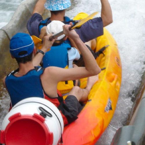 Passage pour les canoës