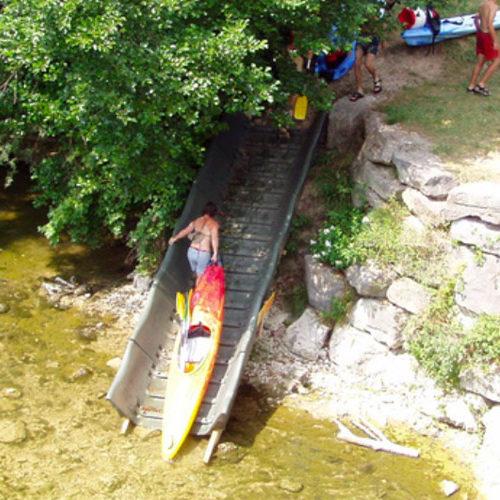 structure pour canoe sur les plans d eaux